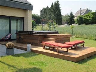 Terrabois terrasse bois bambou carport portail for Amenagement exterieur belgique